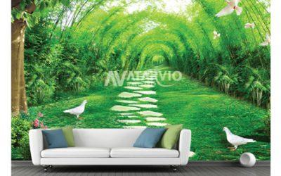 Menghias Dinding Dengan Wallpaper Custom Murah